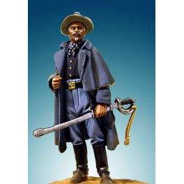 Soldiers 54mm. Brittles US Cavalry Captain,1876.