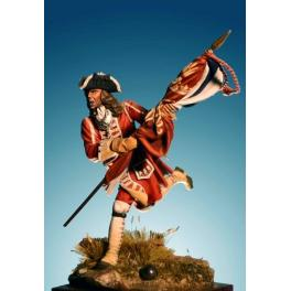 Soldiers 54mm,Infantry Ensign 1704-1712. Malptaquet,1708.