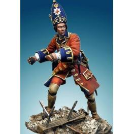 Soldiers 54mm.Figurine de Grenadier Anglais,Coldstream,1704-1712.