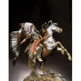 Figurine Pegaso models 90mm,Chef guerrier Lakota.