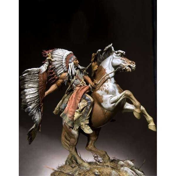 Pegaso models,90mm,Lakota Chief warrior figure kits.