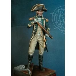 Figurine d'officier de la Royal Navy 75mm Romeo Models 1795-1812.