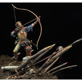 English Longbowman, Azincourt 1415 75mm figure Alexandros Models.