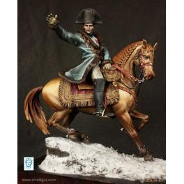 """""""Napoléon sur le champ de bataille d'Eylau, 9 février 1807"""" 75mm figure Alexandros Models"""