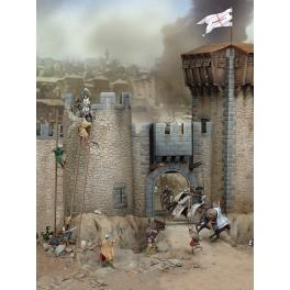 Andrea miniatures,54mm.The Siege, XII Century.