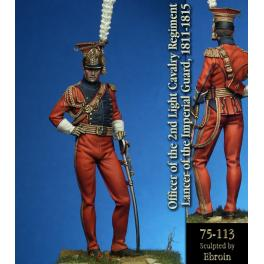 75mm Pegaso figure,Officer of the 2nd Light Cavalry. 75mm Pegaso figuren,Officer of the 2nd Light Cavalry.