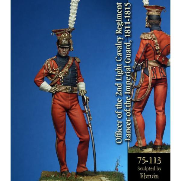 Figurine 75mm Pegaso,Lancier rouge.