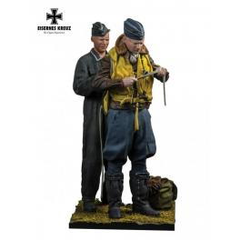 Figurines d'aviateurs Allemands 1940 Andrea Miniatures