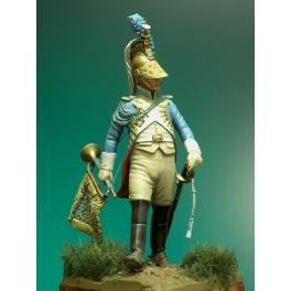 Masterclass 54mm Figurine de Trompette de dragon de la Garde 1812.