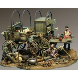 Andrea miniatures 54mm.Chuck Wagon 1880´s,figure kits.