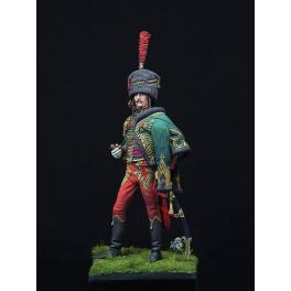 Figurine de  Capitaine de Hussard 1805  Andrea Miniatures 90mm.