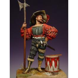 Figurine de halbardier Lansquenet en 90mm