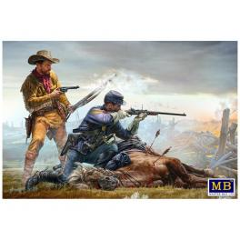 LE DERNIER CARRE - INDIAN WARS SERIE Figurine Master Box 1/35ème