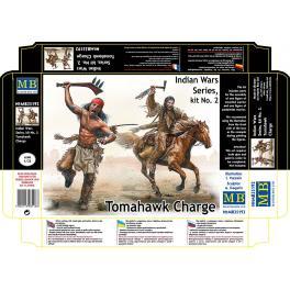 Figurines Masterbox CHARGE AU TOMAHAWK 1/35ème