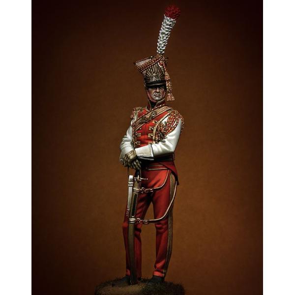 Figurine de Lancier Rouge trompette 90mm Pegaso Models.