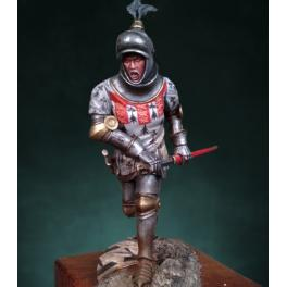 Figurine de chevalier Français en 1415 Crecy Models 75mm.
