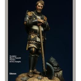 Figurine de chevalier Français au XIVème siècle 54mm Crécy Models.