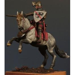 Figurine de Bertrand Du Guesclin en 54mm Crécy Models.