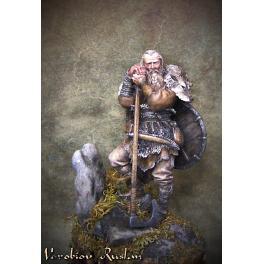 Figurine de VIKING AVEC GRANDE HACHE 75mm.