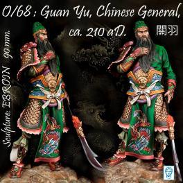 Figurine de Guan Yu, général Chinois 90mm Alexandros Models.