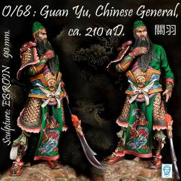 Guan Yu, Chinese General, Ca. 210 aD. 90mm metal kit Alexandros Models.