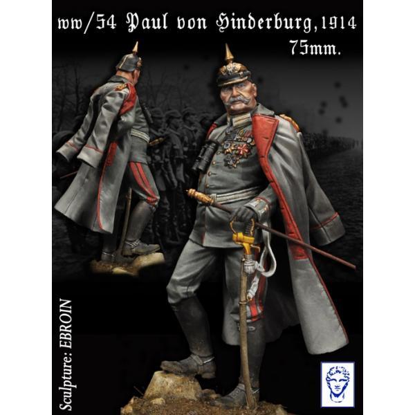Figurine de Hinderburg, 1914-1918 en 75mm Alexandros Models.