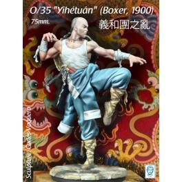"Figurine de ""Yihétuán"" (Boxer, 1900) 75mm Alexandros Models."