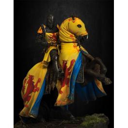 Figurine de chevalier du XIVème siècle 54mm Pegaso Models.