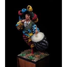 Lansquenet tambour 1525 en 75mm figurine Alexandros models.