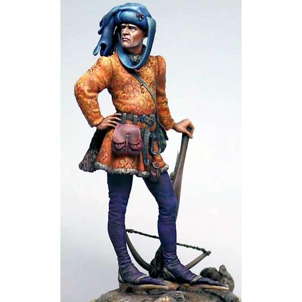 Figurine d'arbalétrier médiéval 75mm Masterclass.