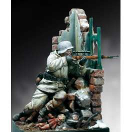 90mm Andrea miniatures : German Sniper 1944 figure kits.