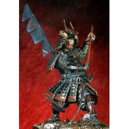 Figurine de Samouraï avec Naginata 1600-1867 Pegaso Models 90mm.