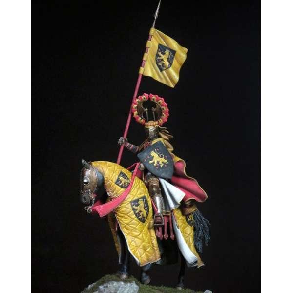 Figurine de chevalier du XVème siècle .
