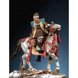 """Pegaso models.54mm figuren.Samurai """"Fukushima Masanori"""" zu Pferd."""