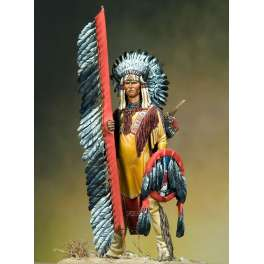 Indian figure kits.Arapahoe Warrior 75mm.