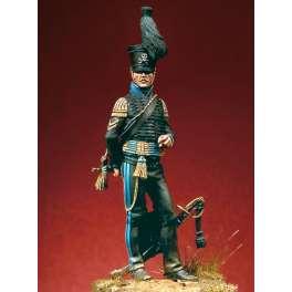 Figurine Pegaso Models figurine 54mm. Armée de Brunswick,trompette,1810-1815.