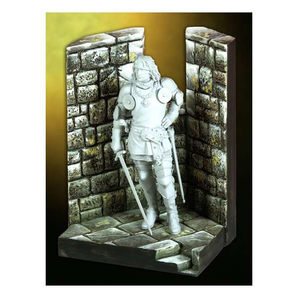 Pegaso models.Medieval Castle corner 54mm.