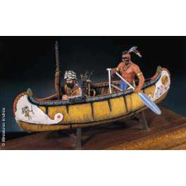 Andrea miniatures 54mm The River Marauder 1750 Figurines d'indien et de trappeur.