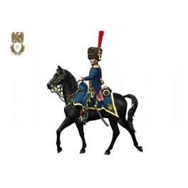 Figurine d'officier d'artillerie de la garde 54mm Andrea Miniatures.