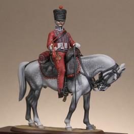 Metal Models 54mm Figurine de Trompette du 3ème régiment de hussards