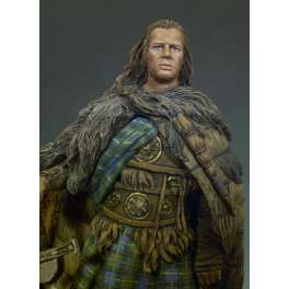 Andrea miniatures,54mm.Figurine d' Highlander,Clan Mcleod,1536.