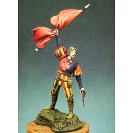 Andrea miniatures,54mm.Landsknecht Standard Bearer, 1505 figure kits.