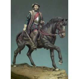 Andrea miniatures,54mm.Hernan Cortes on horseback . Figure kits.