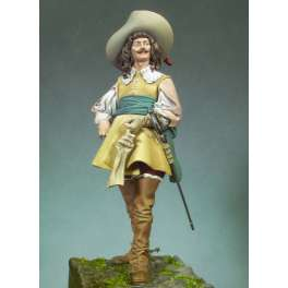 Figurine de Mousquetaire 1645 Andrea miniatures 90mm