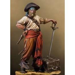 Figurine de Pirate des caraïbes. Boucanier en 1650 Andrea miniature 54mm.