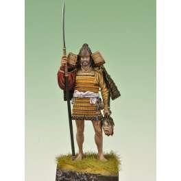 Figurine de Samouraï Provincial  en 1160 Japon XIIe siècle.Andrea miniatures 75 mm