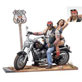 Harley Davidson Route 66,figurines Andrea Miniatures 54mm.