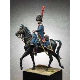 Figurine 90mm d'artilleur à cheval de la garde Andrea Miniatures.