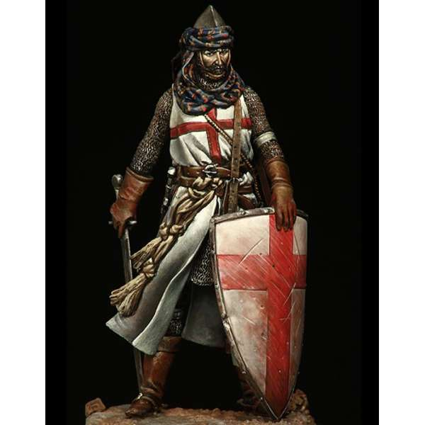 Historical figure kits.Templar Knight 75mm Pegaso Models.