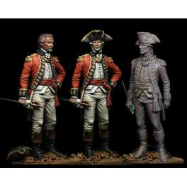 Figurine d'officier Anglais 75mm Bestsoldiers.
